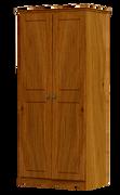 Pippy Oak 2 Door 1 Shelf Wardrobe