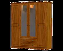 Pippy Oak 4 Door 2 Drawer 2 Mirror Wardrobe