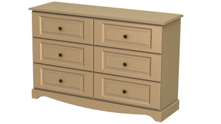 Rococo 3+3 Deep Drawer Long Chest