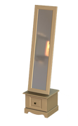 Rococo Cheval Mirror