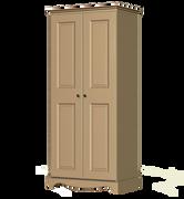 Rococo 2 Door 1 Shelf Wardrobe