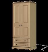 Rococo 2 Door 2 Drawer Wardrobe