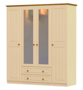 Erris 4 Door 2 Drawer 2 Mirror Wardrobe