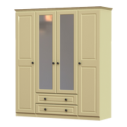 Liffey 4 Door 2 Drawer 2 Mirror Wardrobe