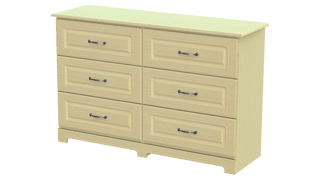 Capri 3+3 Deep Drawer Long Chest