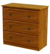 Pippy Oak 3 Deep Drawer Chest