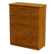 Pippy Oak 4 Deep Drawer Chest