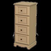 Rococo 4 Deep Drawer Locker