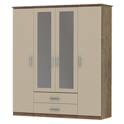 Iona 4 Door 2 Drawer 2 Mirror Wardrobe