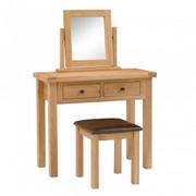 York Oak Vanity Mirror