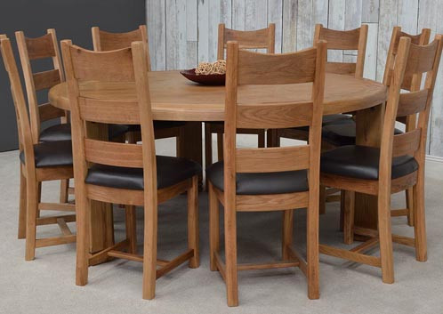 Danube Round Dining Table 190 Cm Ideal Furniture
