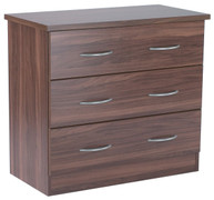 Noche Walnut 3 Deep Drawer Chest