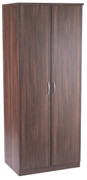 Noche Walnut Plain 2 Door Wardrobe