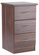 Noche Walnut 3 Drawer Locker