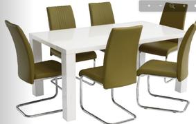 Monaco high gloss white Dining Table ( 160 cm)