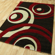 Vibe Collection-Brown/Red 2518 (160 x 220cm)