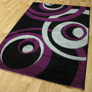 Vibe Collection-Black/Purple 2518 (80 x 150cm)
