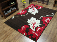 Vibe Collection-Brown/Red 2527 (160 x 220cm)