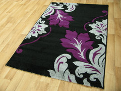 Vibe Collection-Black/Purple 2527 (80 x 150cm)
