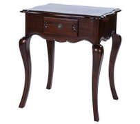 ELSA MAHOGANY 1 DRAWER OCCASIOANAL TABLE WITH CURVED  This elegant collection of solid mahogany furniture exudes charm and grace.  A wonderful intricate classic range which are versatile and stunning. The Elsa will work perfectly to enchant any home – modern or traditional.