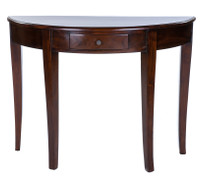 ELSA  MAHOGANY 1 DRAWER CURVED CONSOLE TABLE  This elegant collection of solid mahogany furniture exudes charm and grace.  A wonderful intricate classic range which are versatile and stunning. The Elsa will work perfectly to enchant any home – modern or traditional.
