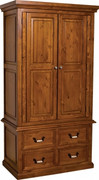 Country 2 Door 4 Drawer Robe