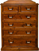 Country 6 Drawer Tall Boy