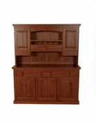 Versailles Oak Buffet & Hutch Unit