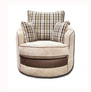 Casablanca Swivel Armchair-Beige
