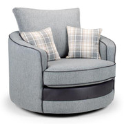 Casablanca Swivel Armchair-Grey