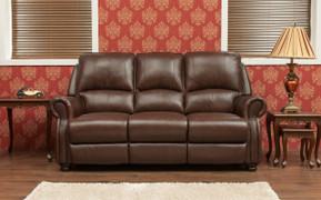 Berkley Half Leather 3 Seater Fixed