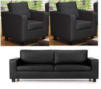 Max 3+1+1 Suite-Leather Black