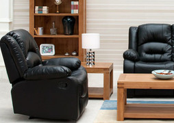 Barletto 1 Seater Recliner -Black