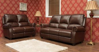 Berkley Half Leather 2 Seater Fixed