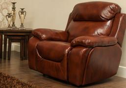 Carson Full Premium Leather 1 Seater Recliner