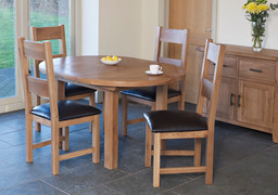 Hampshire Extending Round Table Set With 4 Hampshire Dining Table (107/1400 cm)
