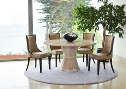 Marcello Round Dining Set & 4 Dining Chairs(100 cm)