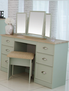 Heritage Sage Knee hole Dressing Table