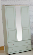 Heritage Sage 2 Drawer Robe-Centre Mirror