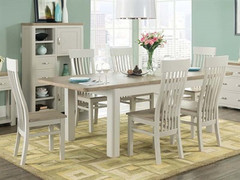 Treviso Painted 6' extension dining set