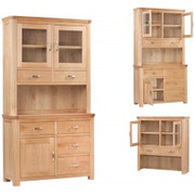 Treviso Oak Small Buffet Hutch