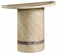 Vittoria Marble Semi Console Table