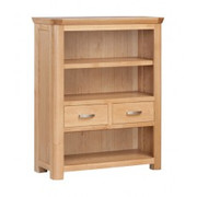Treviso Oak Low Bookcase