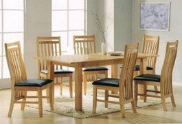Carlingford Ash 5x3 Extension Dining Set