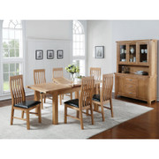 Carlingford Ash 4x3 Extension Dining Set
