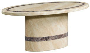 Vittoria Marble Oval Coffee Table