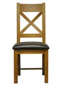 Largo Dining Chair-Cross Back PU