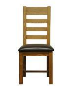 Largo Dining Chair-Ladder Back PU