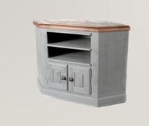 Danube French Grey Corner TV Unit
