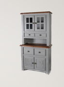 Danube French Grey Small Buffet and Hutch
